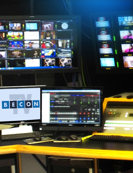 Broadcast Monitors for all signals coming from BECON Tv